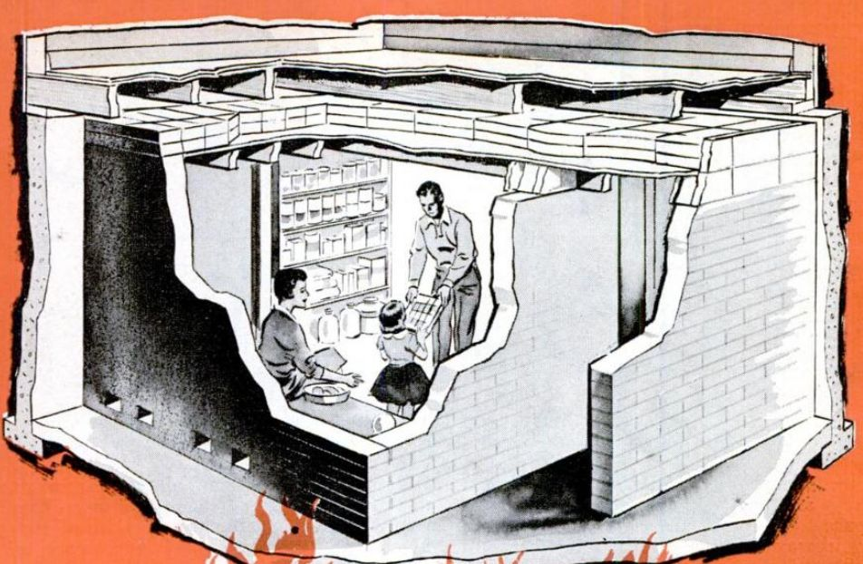 Invisible themepark nuclear bomb fallout shelters for Household shelter design